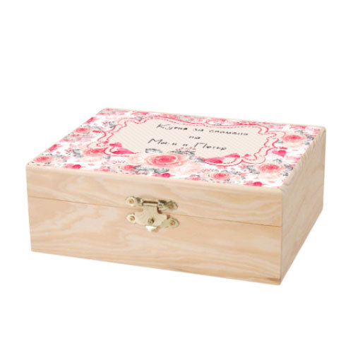 Дървена кутийка с печат PACK02