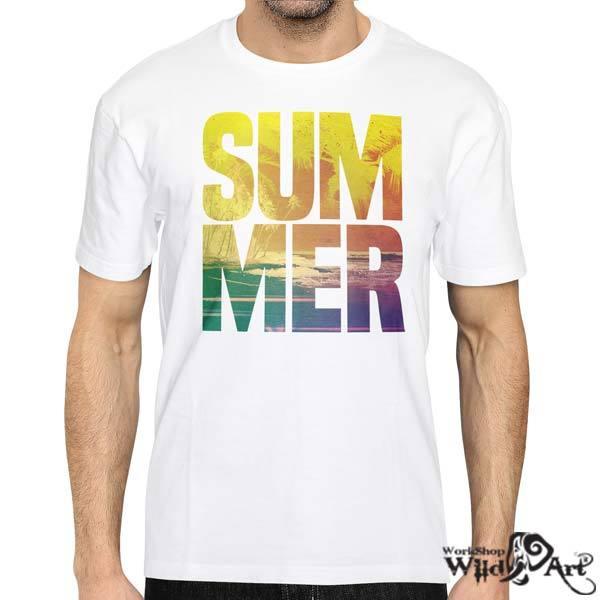 Лятна тениска с щампа Summer