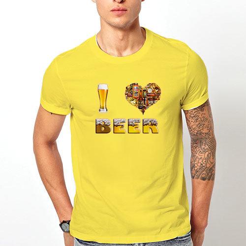 """Тениска – """"I Love Beer /  Обичам бира"""" K 7009"""