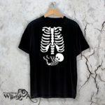 Тениска за Хелоуин Skeleton W 1141