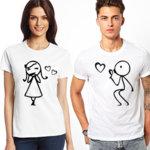 Тениски за двойки Boy and girl N1061