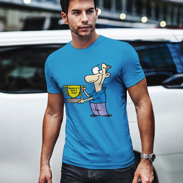 Тениска World's best dad N1051