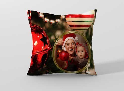 Възглавничка за Коледа с ваша снимка CHR10