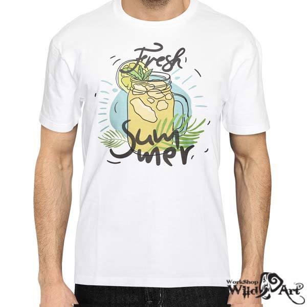 Лятна тениска с щампа Fresh Summer