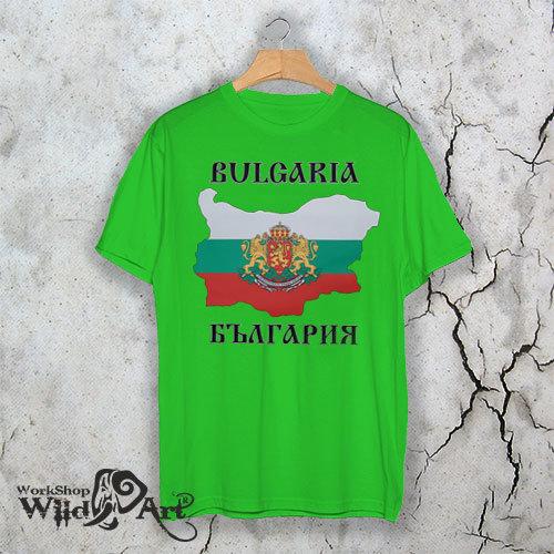 Тениска с герба на България