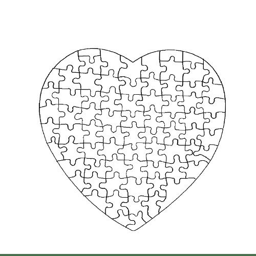 Пъзел сърце