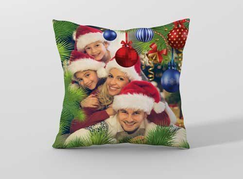 Подарък за Коледа – Възглавничка с ваша снимка CHR2