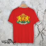Тениска с герба на Република България