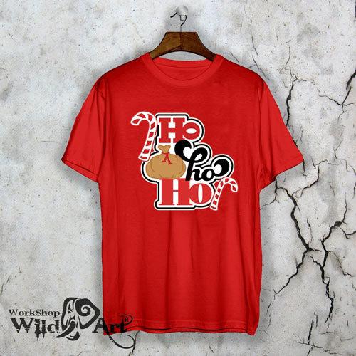 Коледна тениска Ho ho ho W1091