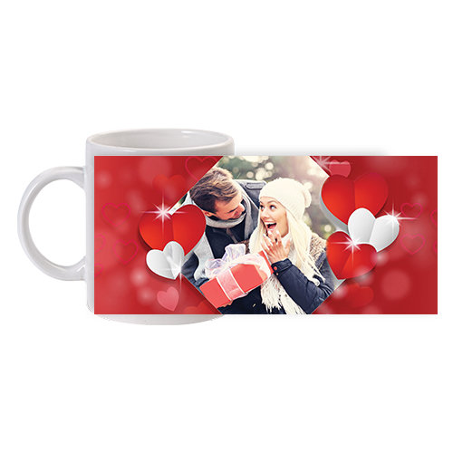 Чаша със снимка със сърца за двойки