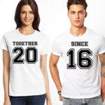 Тениски за двойки Together since K 8065