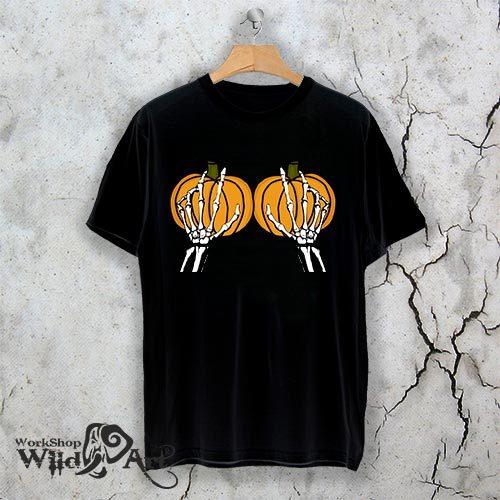 Тениска за Хелоуин Pumpkin hands W 1158