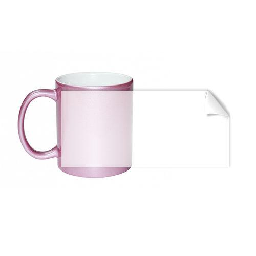 Чаша с розова глазура
