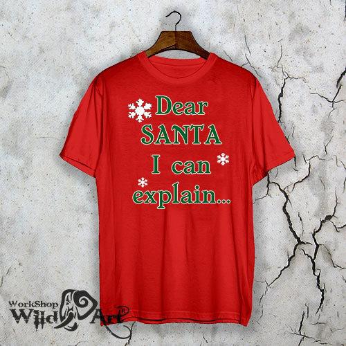 Забавна коледна тениска Dear Santa W1095