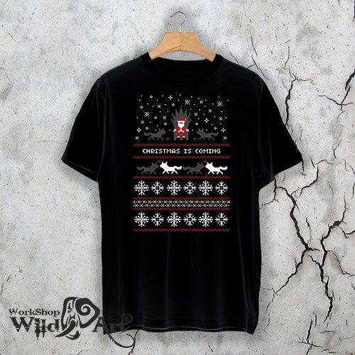 Коледна тениска с ретро мотиви