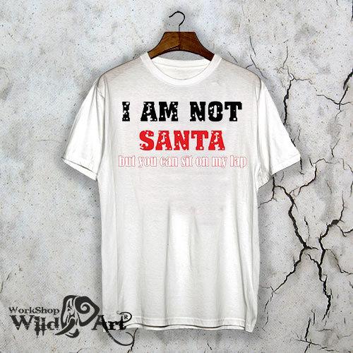 Коледна тениска с щампа I`m not Santa
