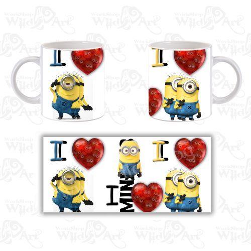 Чаша I Love Minions 2