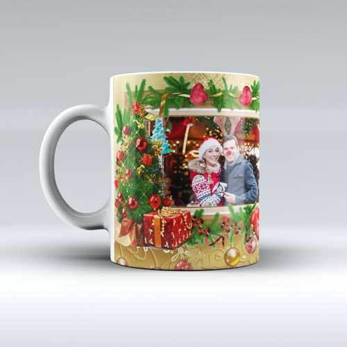 Коледна чаша за баба с ваша снимка 9