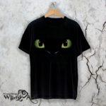 Тениска за Хелоуин Cat eyes W31