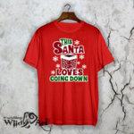 Готина коледна тениска Santa going down W1094