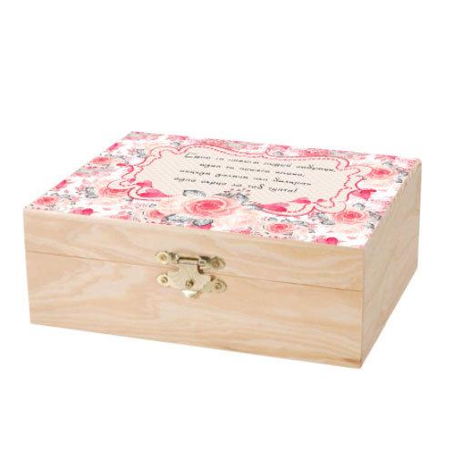 Дървена кутийка с печат PACK04