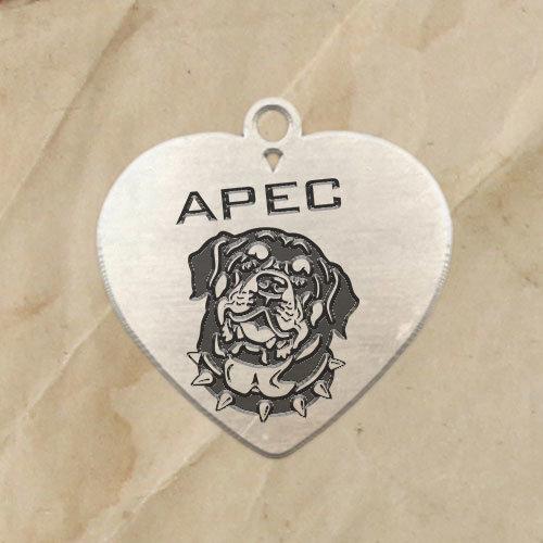 Кучешки медальон Сърце 1