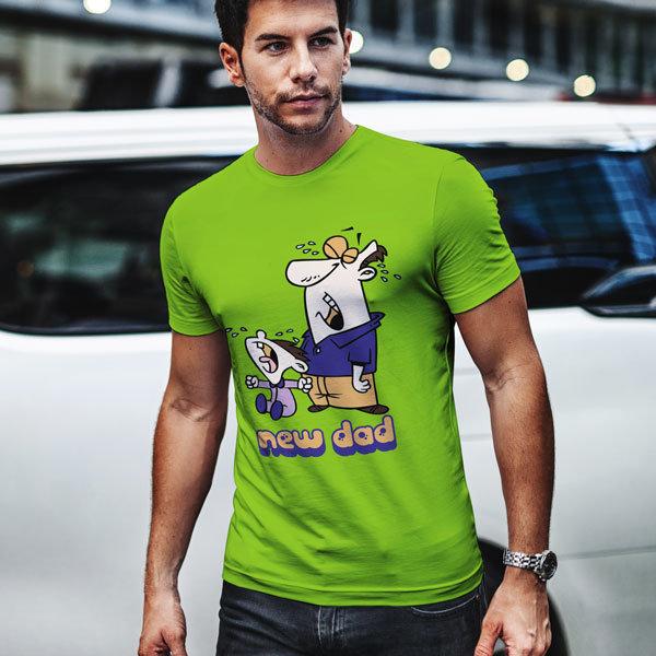 Тениска New Dad