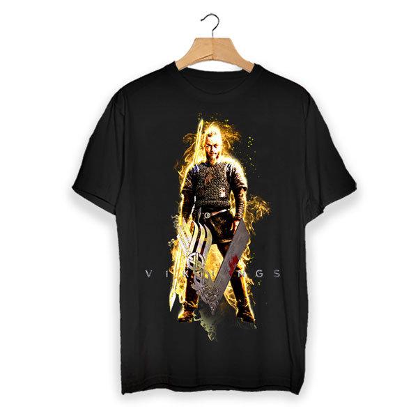Тениска - Vikings flaming Ragnar VGS101