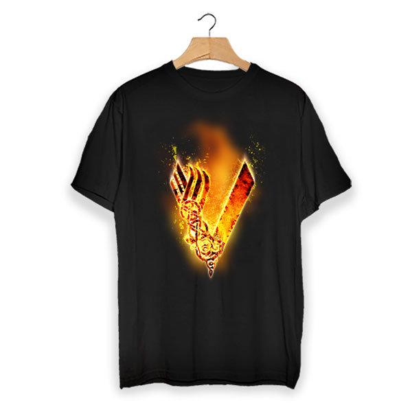 Тениска - Vikings flaming logo VGS103