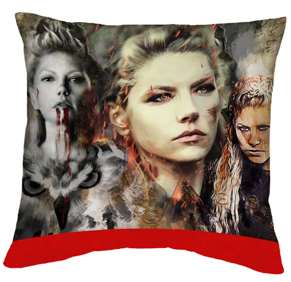 Възглавничка Vikings Lagertha collage  VGSP06