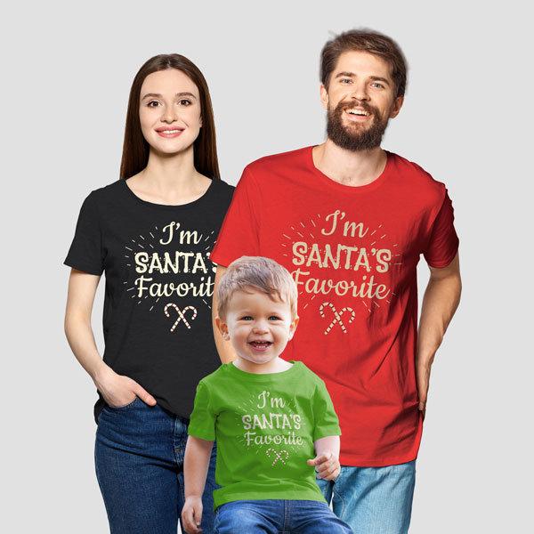 Коледни семейни тениски - Santa's favorite chr1918