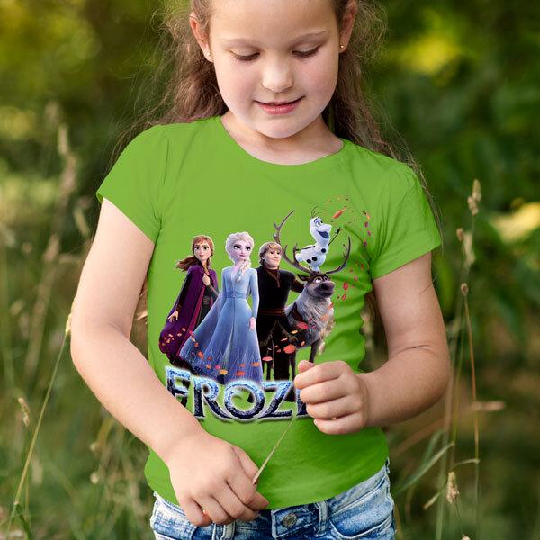 Тениска Frozen - Замръзналото кралство Елза Анна Олаф Кристоф Свен FRT101