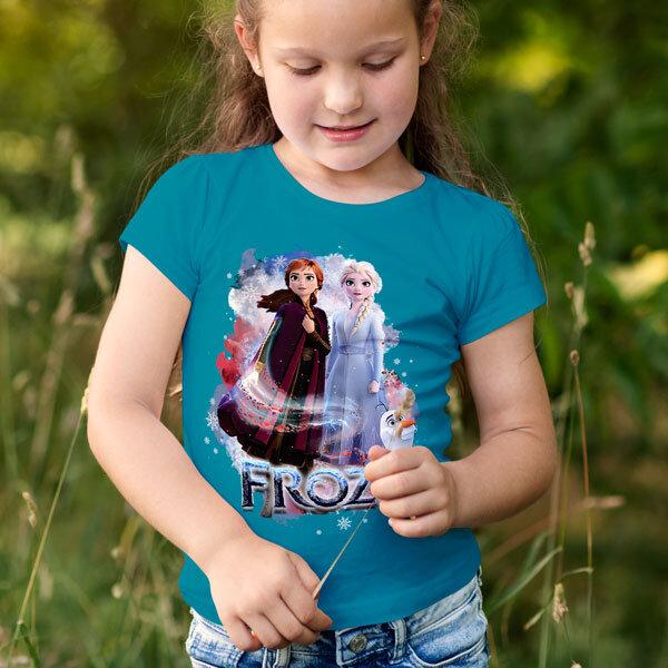 Тениска Frozen - Замръзналото кралство Елза Анна Олаф FRT103