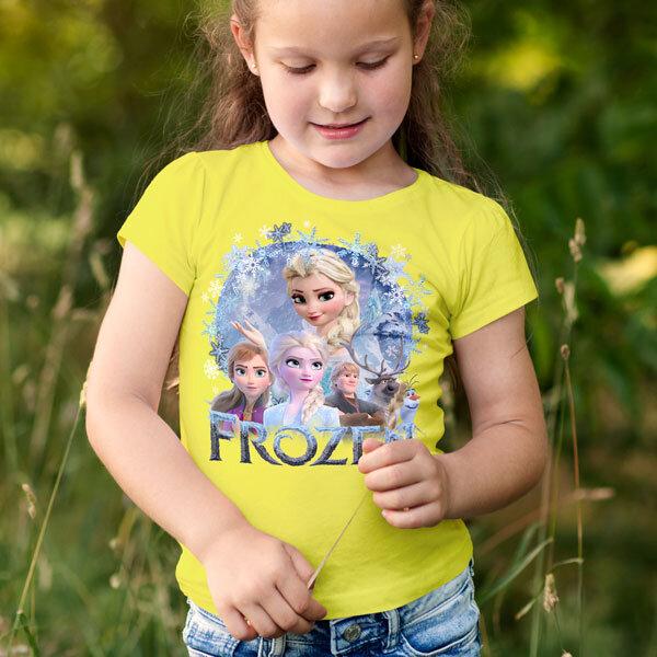 Тениска Frozen - Замръзналото кралство Елза Анна Олаф Кристоф Свен FRT106