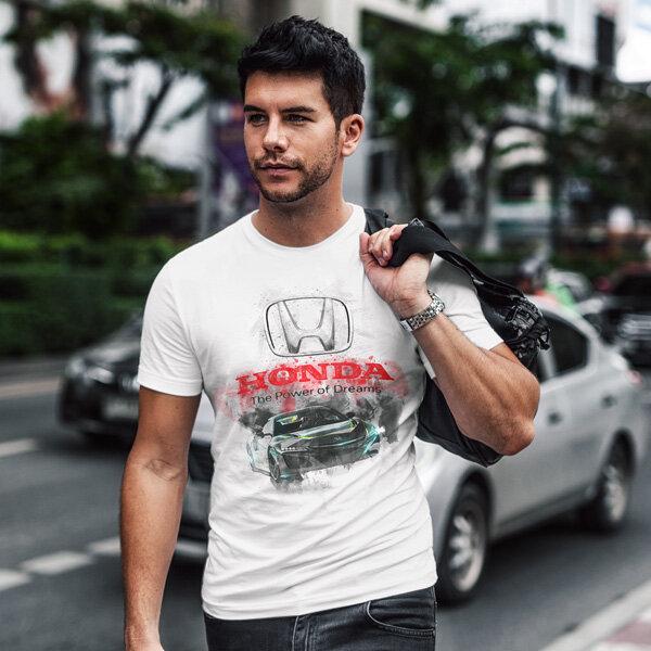 Тениска за фенове с логото на Honda  HT101