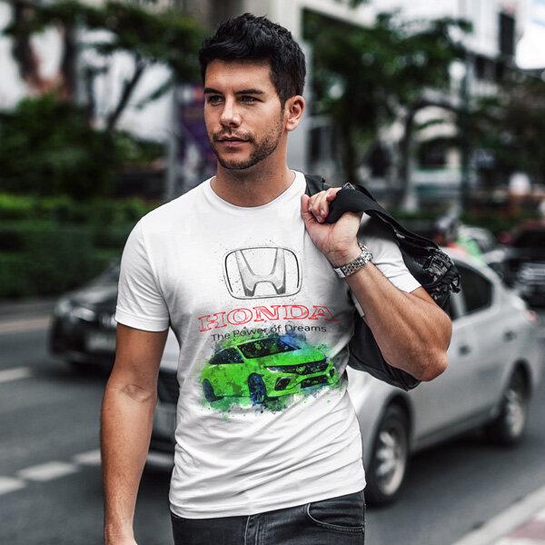 Тениска за фенове с логото на Honda  HT104