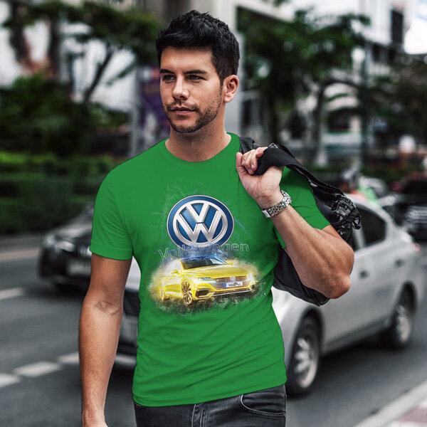 Тениска за фенове с логото на Volkswagen VWT103