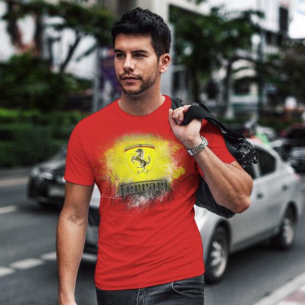 Тениска за фенове с логото на Ferrari FRT101