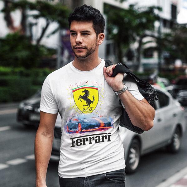 Тениска за фенове с логото на Ferrari FRT103