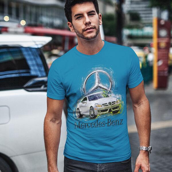 Тениска за фенове с логото на Mercedes MCT102