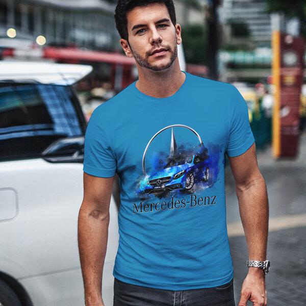 Тениска за фенове с логото на Mercedes MCT105