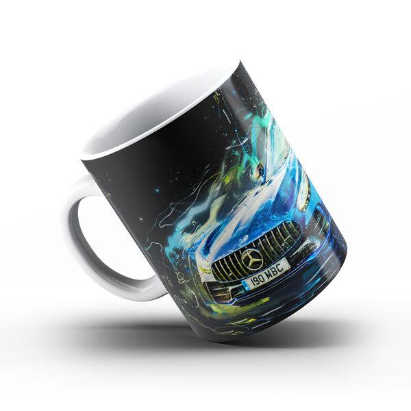 Керамичнa чашa за фенове с логото на Mercedes MCCH104