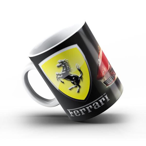 Керамичнa чашa за фенове с логото на Ferrari FRCH101