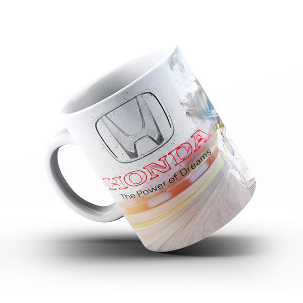 Керамичнa чашa за фенове с логото на Honda HCH102