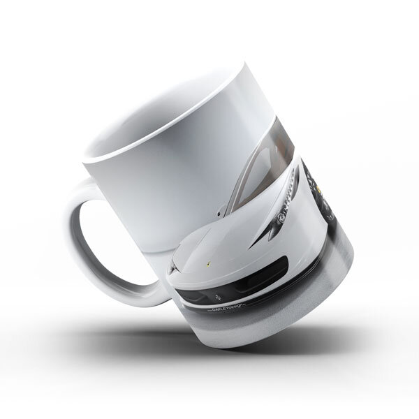 Керамичнa чашa за фенове с логото на Ferrari FRCH103