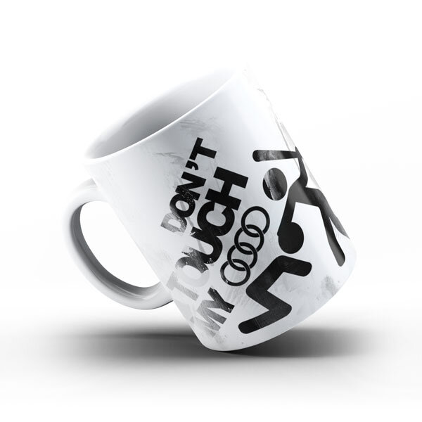 Керамичнa чашa за фенове с логото на Audi  AUCH101