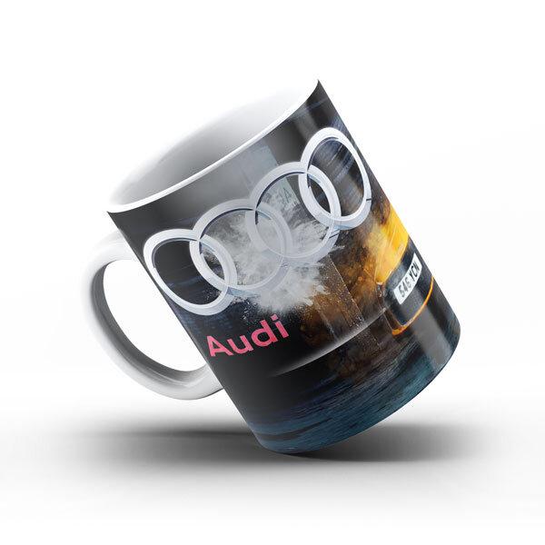 Керамичнa чашa за фенове с логото на Audi  AUCH103