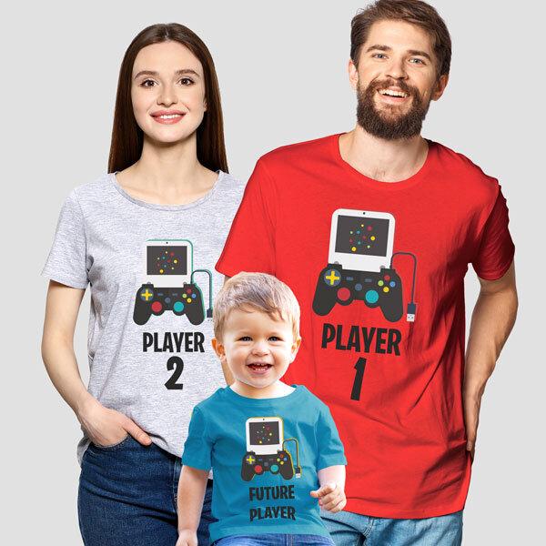 Комплект тениски – геймърско семейство