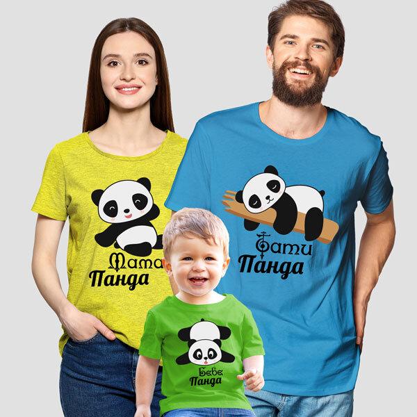 Комплект тениски – семейство панди