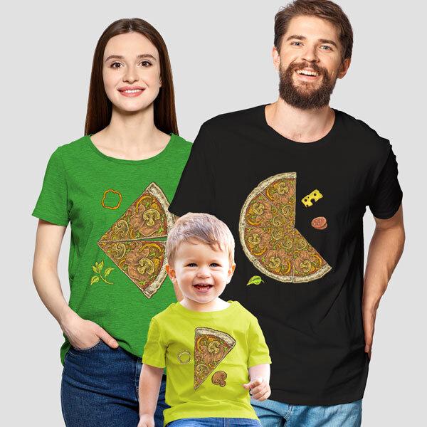 Комплект тениски за семейство - Пица